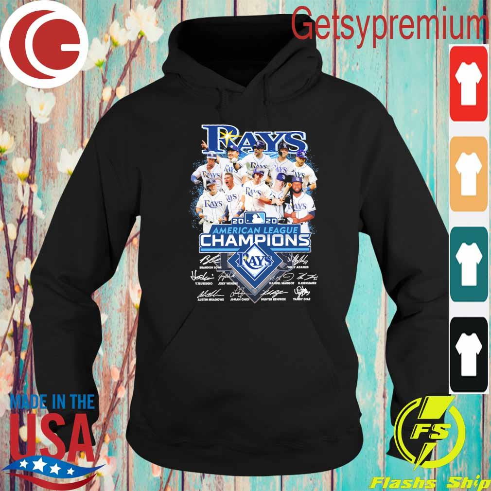 Tampa Bay Rays 2020 American League Champions played signatures s Hoodie