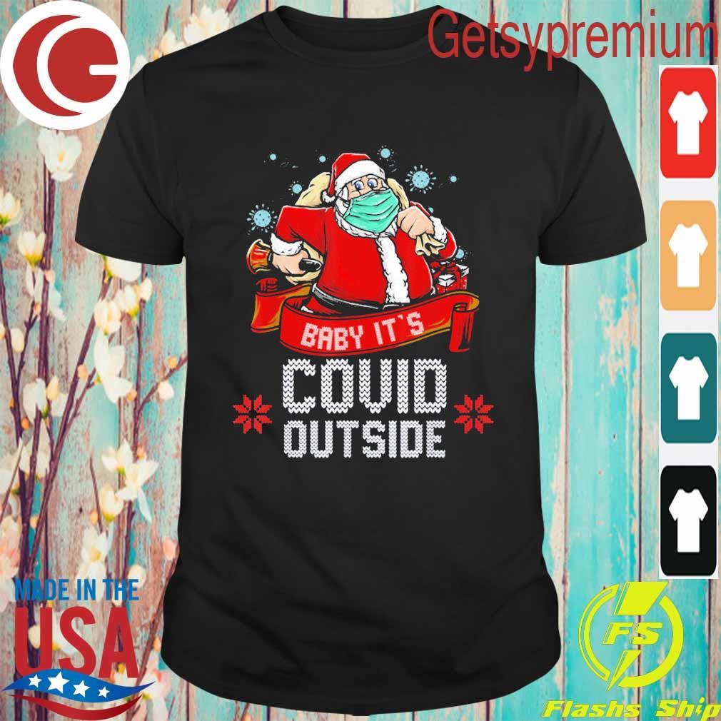 Baby It's covid outside ugly Christmas 2020 sweatshirt