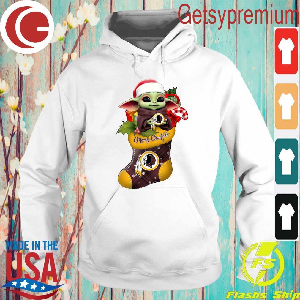 Baby Yoda Hug Washington Redskins Ornament Merry Christmas 2020 Shirt Hoodie