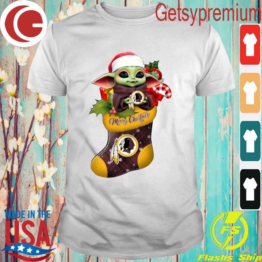 Baby Yoda Hug Washington Redskins Ornament Merry Christmas 2020 Shirt