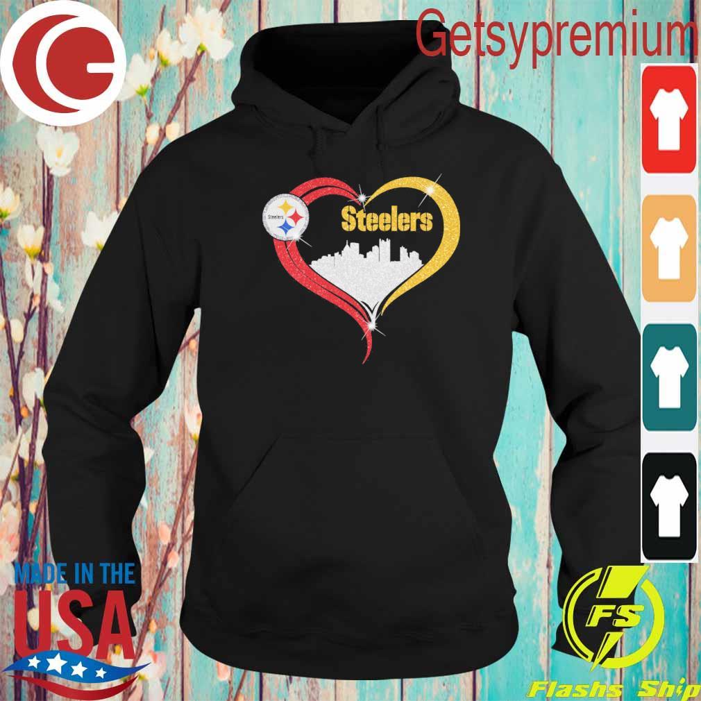 Diamond Love Pittsburgh Steelers city heart s Hoodie