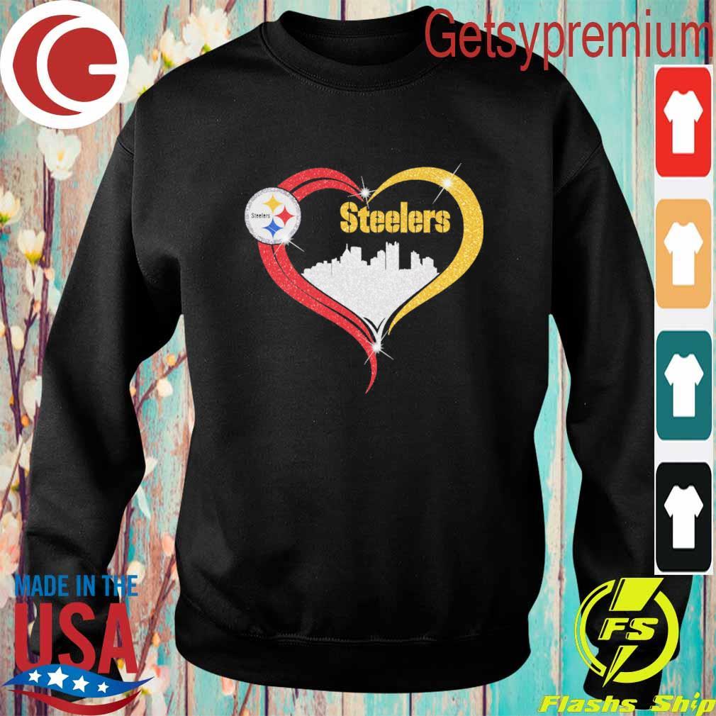 Diamond Love Pittsburgh Steelers city heart s Sweatshirt