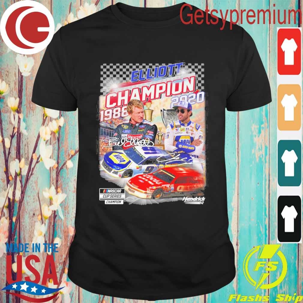 Elliott Nascar Cup Series Champion 1988 2020 signatures shirt