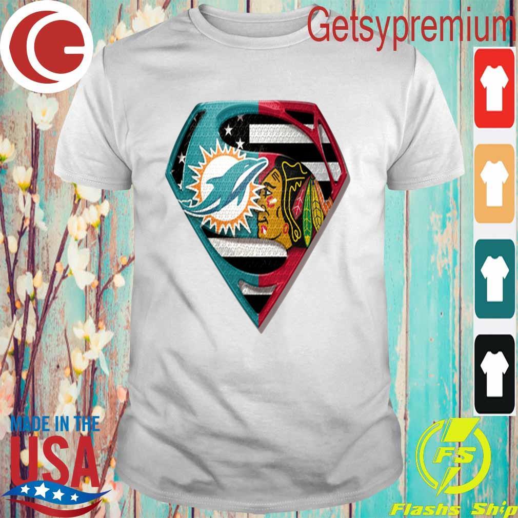 Superman Miami Dolphins vs Chicago Blackhawks 2020 shirt