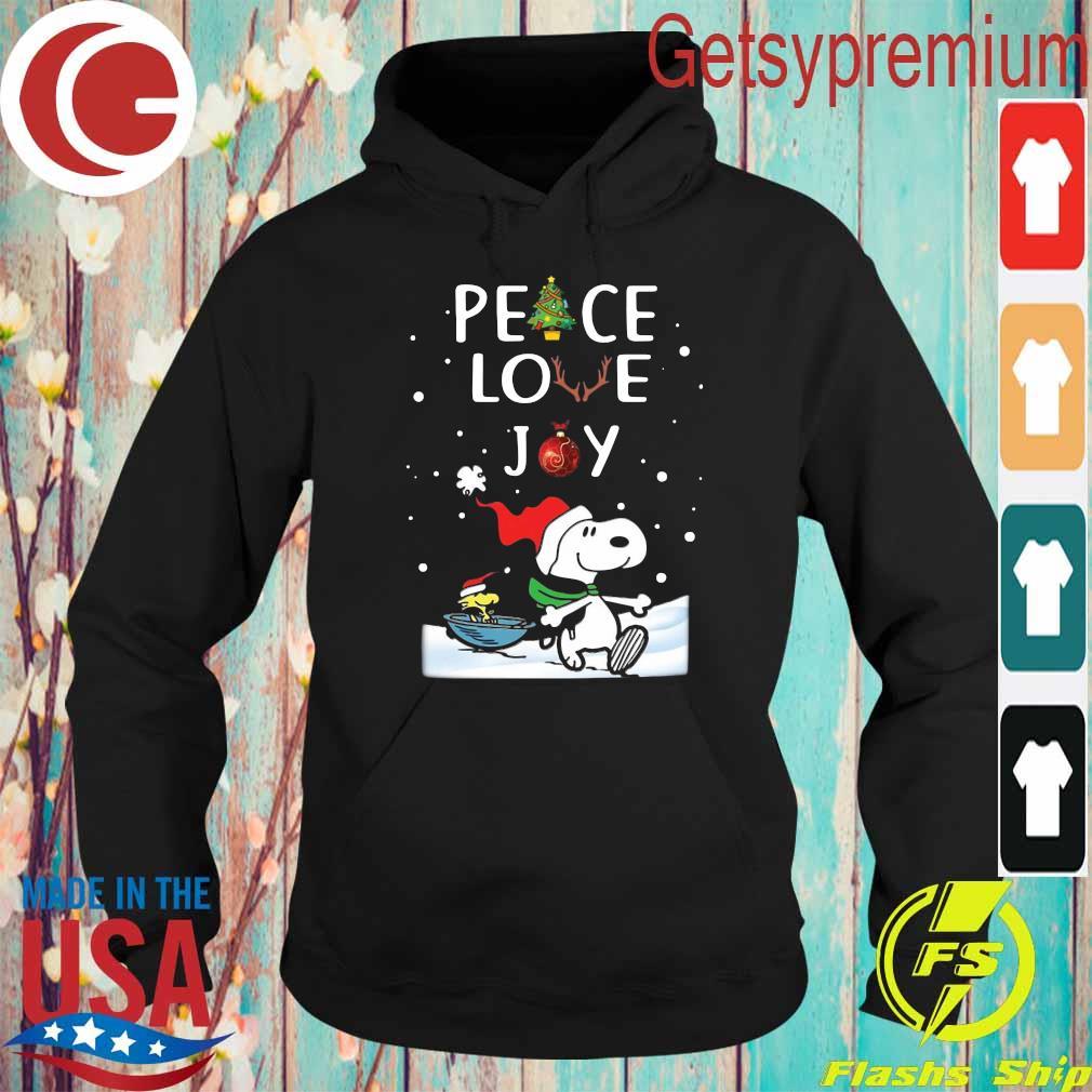 Official Snoopy Peace Love Joy Christmas Shirt Hoodie