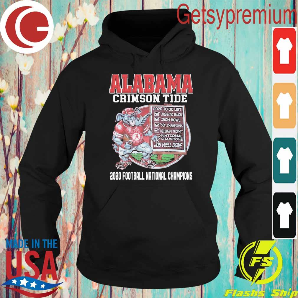 Alabama Crimson Tide 2020 Football National Champions s Hoodie