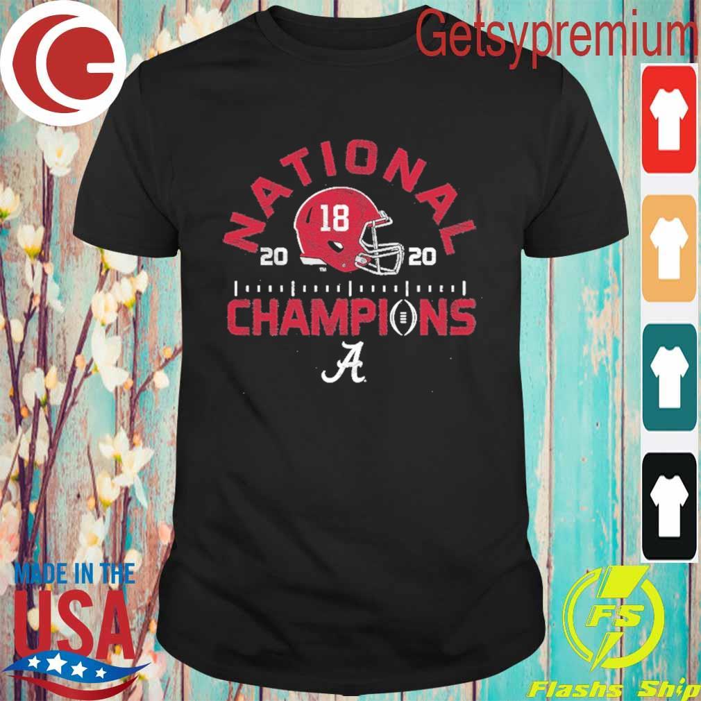 Alabama Crimson Tide Blue 84 College Football Playoff 2020 National Champions Tri-Blend shirt