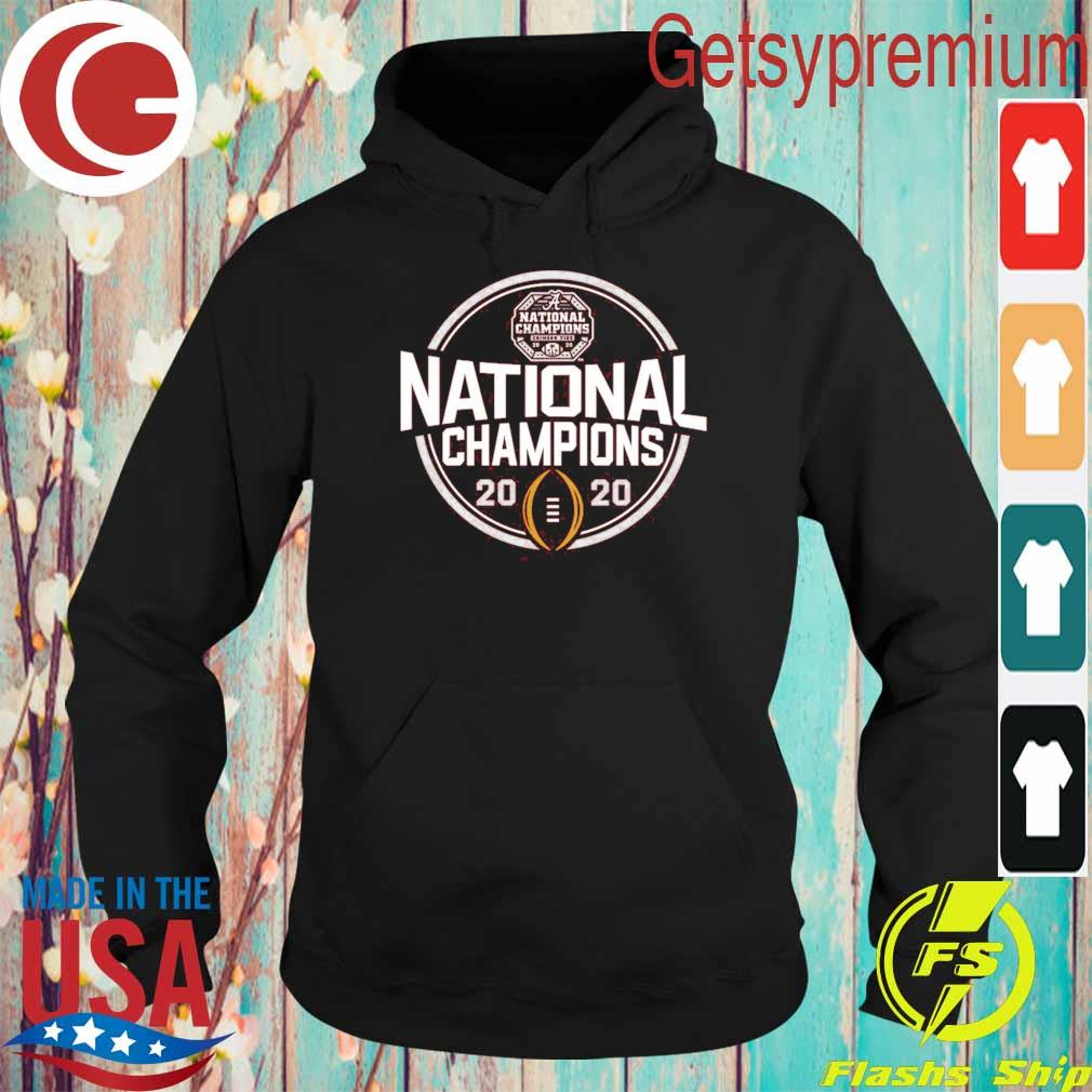 Alabama Crimson Tide Blue 84 Youth College Football Playoff 2020 National Champions Schedule T-Shirt Hoodie