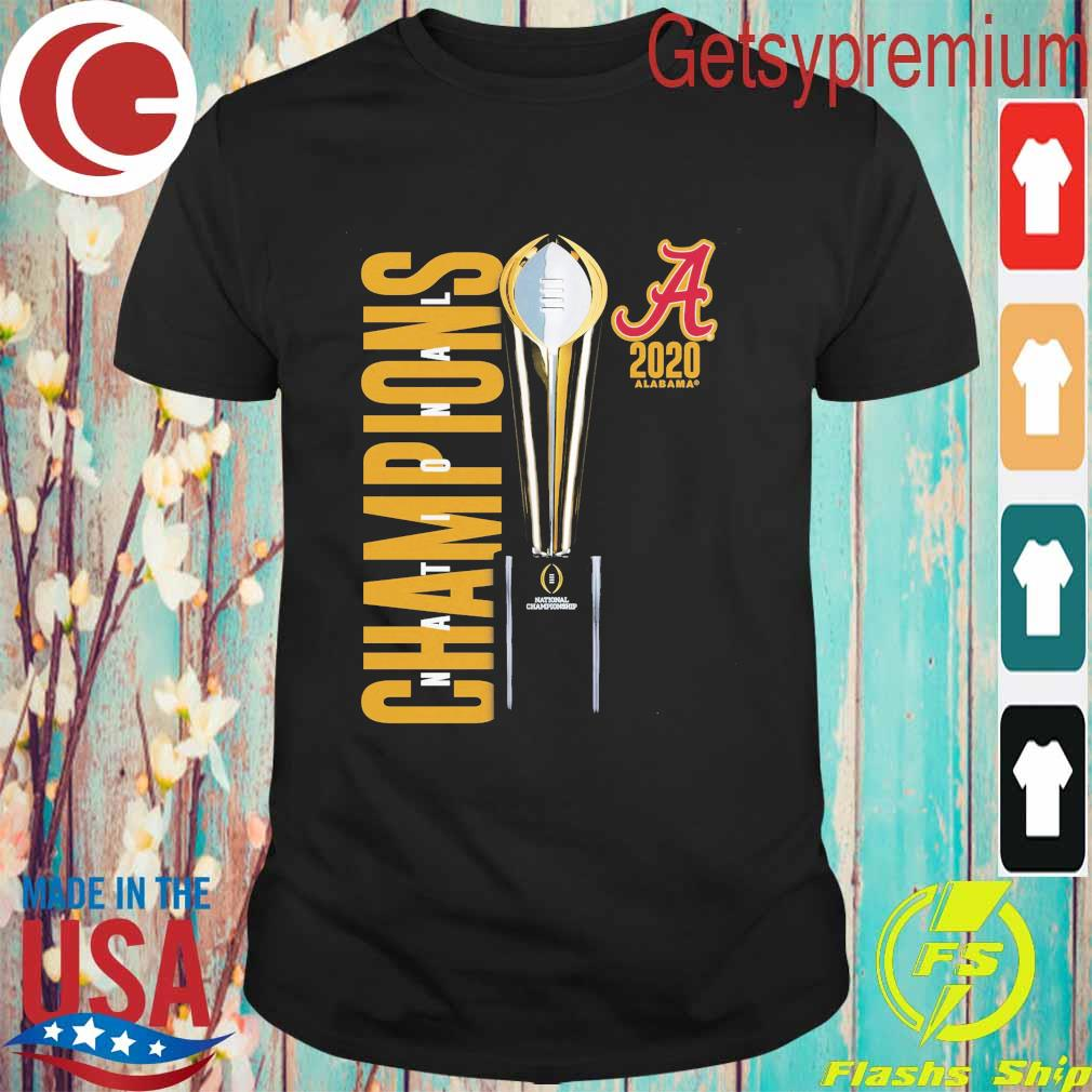 Alabama Crimson Tide Fanatics Branded College Football Playoff 2020 National Champions Celebration shirt
