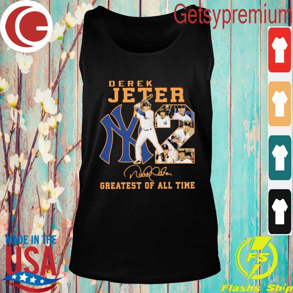 Derek Jeter New York Yankees greatest of all time signature s Tank top