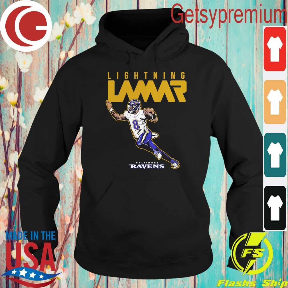 Lamar Jackson Baltimore Ravens Lightning Lamar s Hoodie