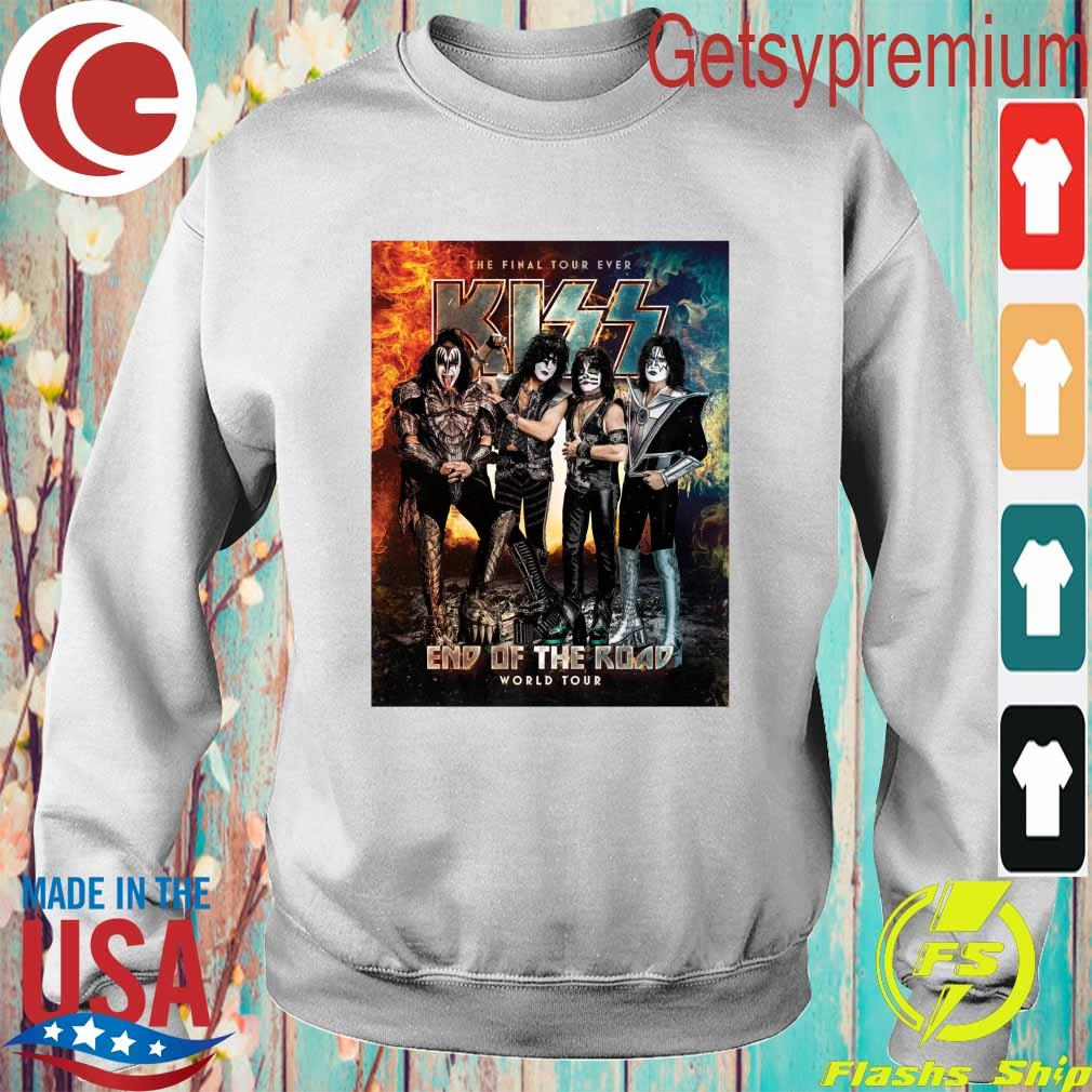 Official Kiss Band end of the Road world Tour 2021 s Sweatshirt