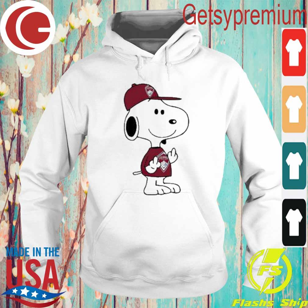 Snoopy Colorado Rapids MLS Double Middle Fingers Fuck You Shirt Hoodie